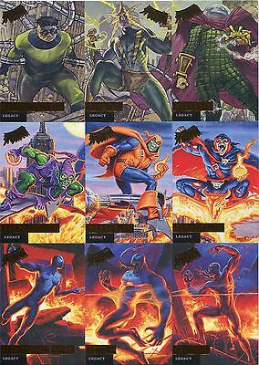 Spiderman Fleer Ultra 2017 Complete Legacy Chase Card Set L1-12