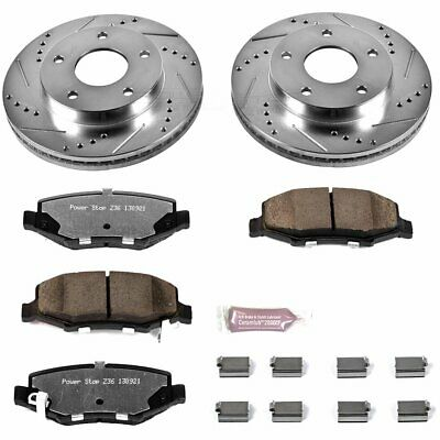Powerstop 2-Wheel Set Brake Disc and Pad Kits Rear New Jeep Liberty K3046-36