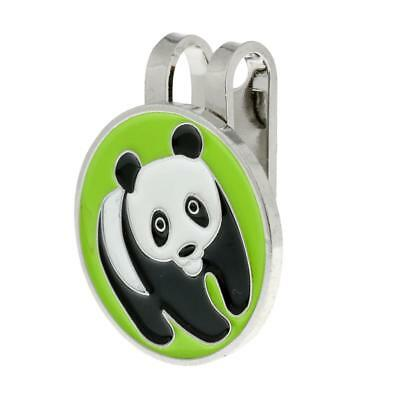 Portable Metal Panda Golf Ball Marker Magnetic with Hat Clip Golfer Gift