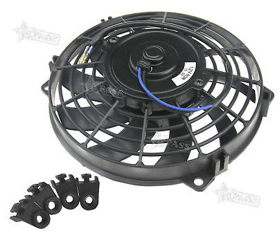 "9"" 12V Electric Radiator Fan 80W Intercooler Cooling Mount Kit For Universal Car"