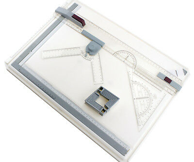 A3 Drawing Board Table Top Architects Technical Ergonomic Box Set Magnetic Bar