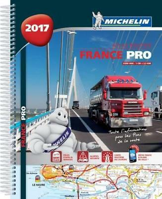 France Pro 2017 - truck spiral atlas (Michelin Tourist and Motoring Atlases) by