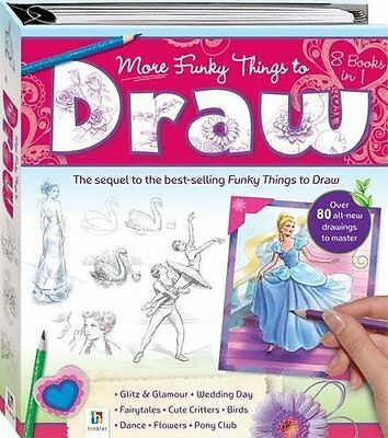 More Funky Things to Draw (Binder Series), Hinkler Books PTY Ltd | Hardcover Boo