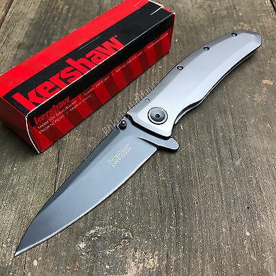 Kershaw Grid 8Cr13MoV Plain Edge Assisted Opening Tactical Folding Knife 2200