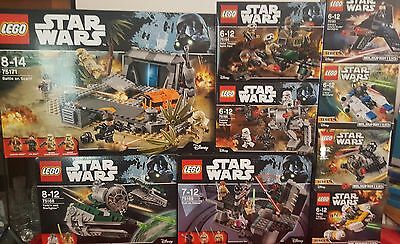 Brand New Sealed Lego Star Wars Lot 75168, 75169, 75171, 75160 and more!
