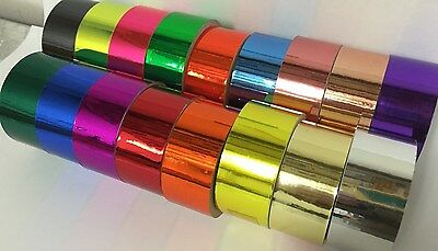 Colored Chrome Tape, Pick Your Color and Size, Smooth Polish Vinyl Plastic Tape