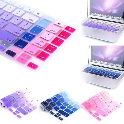 "Silicone Rainbow Keyboard Skin Cover For Apple Macbook Air Mac 13""15""17"""