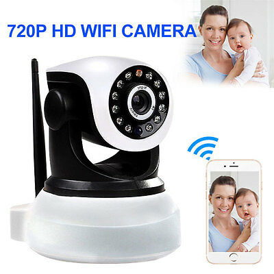 Wireless 720P WiFi Network Security IP Camera Night Vision Two Way Audio.