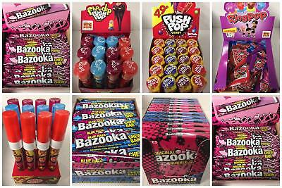 Retro Candy Wholesale Sweets - Lolly Push Pop Bazooka Candy Spray Ring Pops