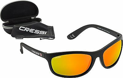 Cressi Rocker Black/Mirrored Lens Orange