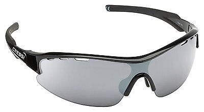 Cressi Vento Sports Sunglasses Black/Dark Grey Lens