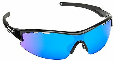 Cressi Vento Sports Sunglasses Black/Blue Lens
