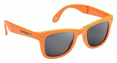 Cressi Taska Sports Sunglasses Orange/Mirrored Lens Grey