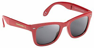 Cressi Taska Sports Sunglasses Red/Mirrored Lens Grey