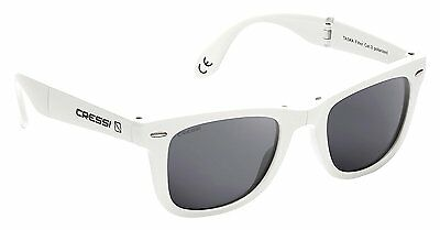 Cressi Taska Sports Sunglasses White/Mirrored Lens Grey