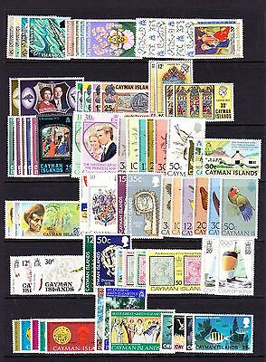 Cayman Is. Various Unmounted Mint Commemorative Sets Between 1971-2002.