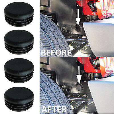 4xFrame Hole Cover Plug Accessory Dress Up for Jeep Wrangler JK Unlimited 07-17