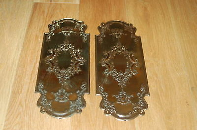 Reclaimed Solid Brass Door Finger Plates Antque finish Churb