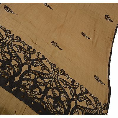 Sanskriti Antique Vintage Indian Saree 100% Pure Silk Embroidered Fabric Sari
