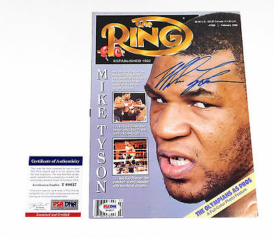 Mike Tyson Signed The Ring Magazine Feb 1990 PSA/DNA Auto