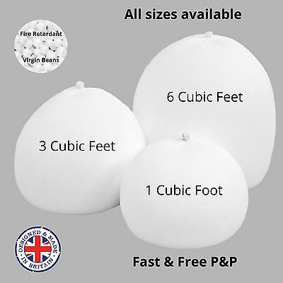 Bean Bag Top Up Filler Bead Polystyrene Balls Booster Filling Refill Beans