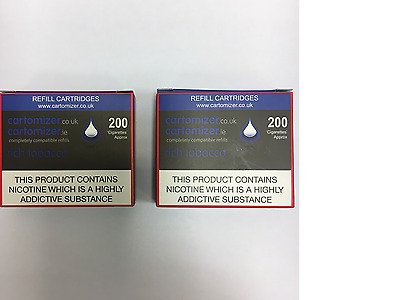 10 RICH TOBACCO FLAVOUR  CARTOMIZERS  18 Mg COMPATIBLE WITH VIP
