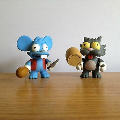 Kidrobot X The Simpsons Series 1 - Itchy & Scratchy Vinyl Figure Set