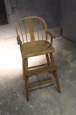 Child's High chair vintage retro country house