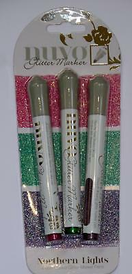 Tonic studios Nuvo Glitter marker pens  northern lights 171n pink green purple