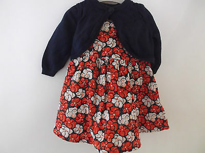 Girls Mothercare Lined dress and Cardigan Set age 3-6 Months