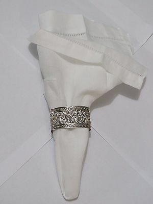 Sterling Silver Lace Napkin Rings- 6 per set
