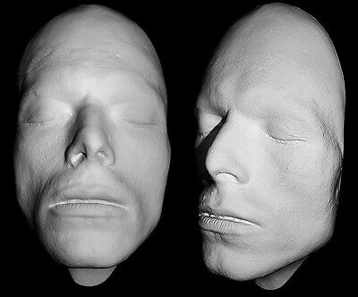 DAVID BOWIE Life Mask c1976 Life Cast in white resin HAUNTED STUDIOS ORIGINAL