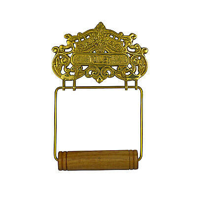 Lovely Cast Brass Victorian French Style Wall Toilet Paper Holder Replica