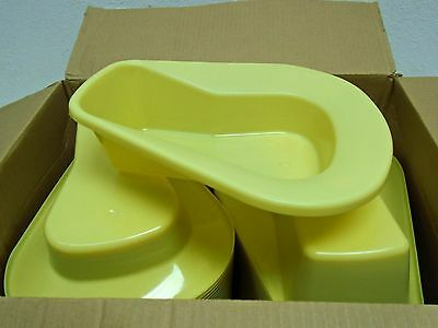 Medline Industries DYND80216 Stack-A-Pans Bedpan, Gold 50pk BOX DAMAGE