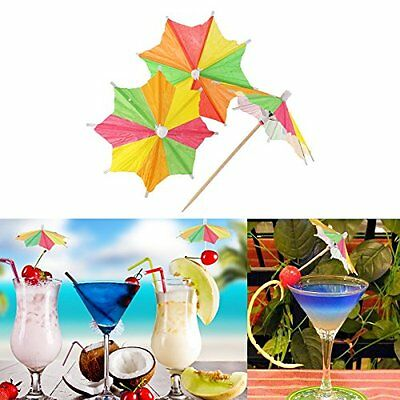 Eight-square Mixed Paper Cocktail Drink Umbrellas Parasols Picks Party Drinks UK