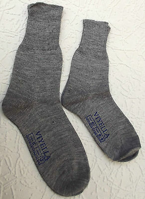Childrens socks Short plain grey Vintage 1960s UNUSED school uniform  VIYELLA