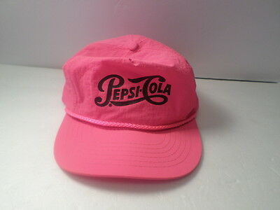 VINTAGE Pepsi Cola Neon Or HOT PINK HAT CAP