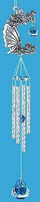 Butterfly Pewter Wave Cut  Chimes  16 inches  - RAI 49467
