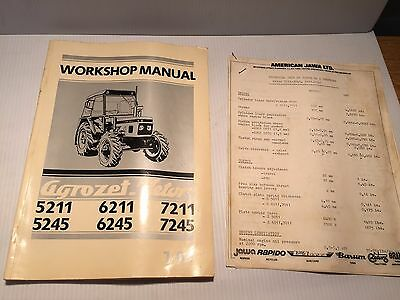 AGROZET ZETOR TRACTOR 5211, 5245, 6211, 6245, 7211 & 7245 Workshop Manual