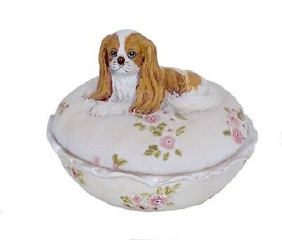 King Cavalier Dog Resin Trinket Box   - RAI 88333