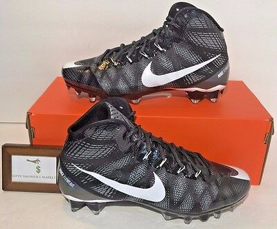 0 NIKE MENS SIZE 13 CJ3 ELITE PRO TD FOOTBALL CLEATS UNTOUCHABLE BLACK