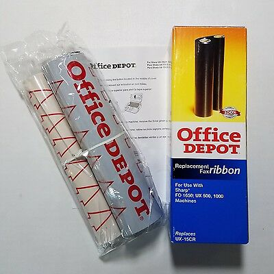 Office Depot replacement fax ribbon, replaces UX-15CR, for use w/ some Sharp fax