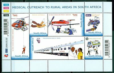 South Africa Scott #1358 MNH Medical Outreach Helicopters Trains CV$4+
