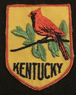 KENTUCKY Vintage Patch State CARDINAL  Souvenir Travel VOYAGER Embroidered