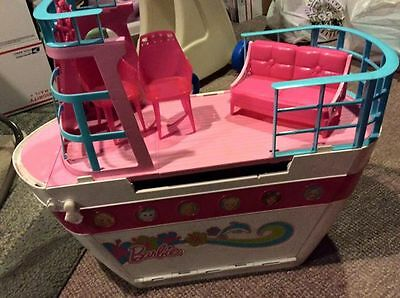 Barbie Sisters Cruise Ship Boat Yacht with 4 dolls accessories and a car