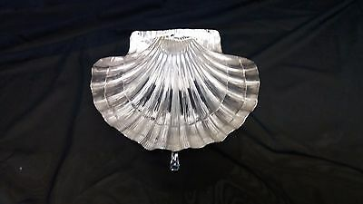 Beautiful 925 silver christening shell, hand-worked.