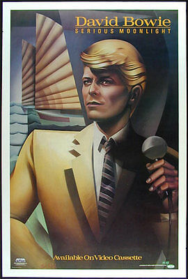 David Bowie - Serious Moonlight _ORIGINAL_ 1984 Record/Video Store Promo Poster