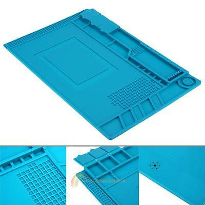 45×30cm Heat Insulation Silicone Pad Repair Soldering with Magnetic Section New