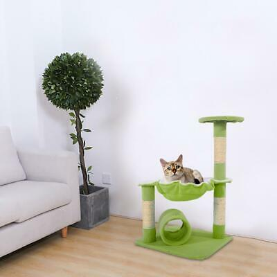 """M51 28"""" Cat Tree Tower Condo Sisal Scratcher Play Furniture Bed House Green"""