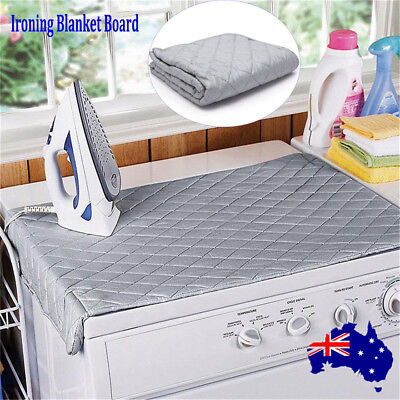 Table Top Folding Portable Caravan Travel Ironing Blanket Board Cover Mat ON